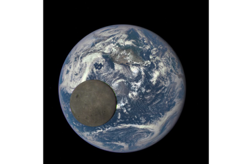 Moon passing if front of the Earth photo from NASA's Deep Space Climate Observatory